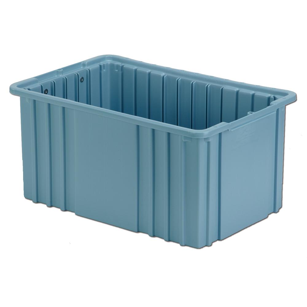 """16-1/2"""" L x 10-7/8"""" W x 8"""" Hgt. Light Blue Divider Box"""