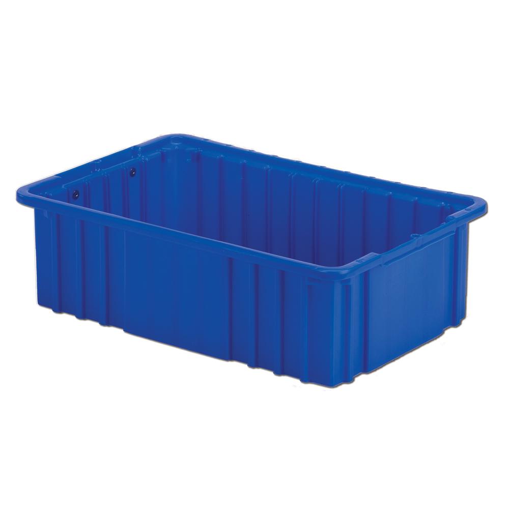 """16-1/2"""" L x 10-7/8"""" W x 5"""" Hgt. Dark Blue Divider Box"""