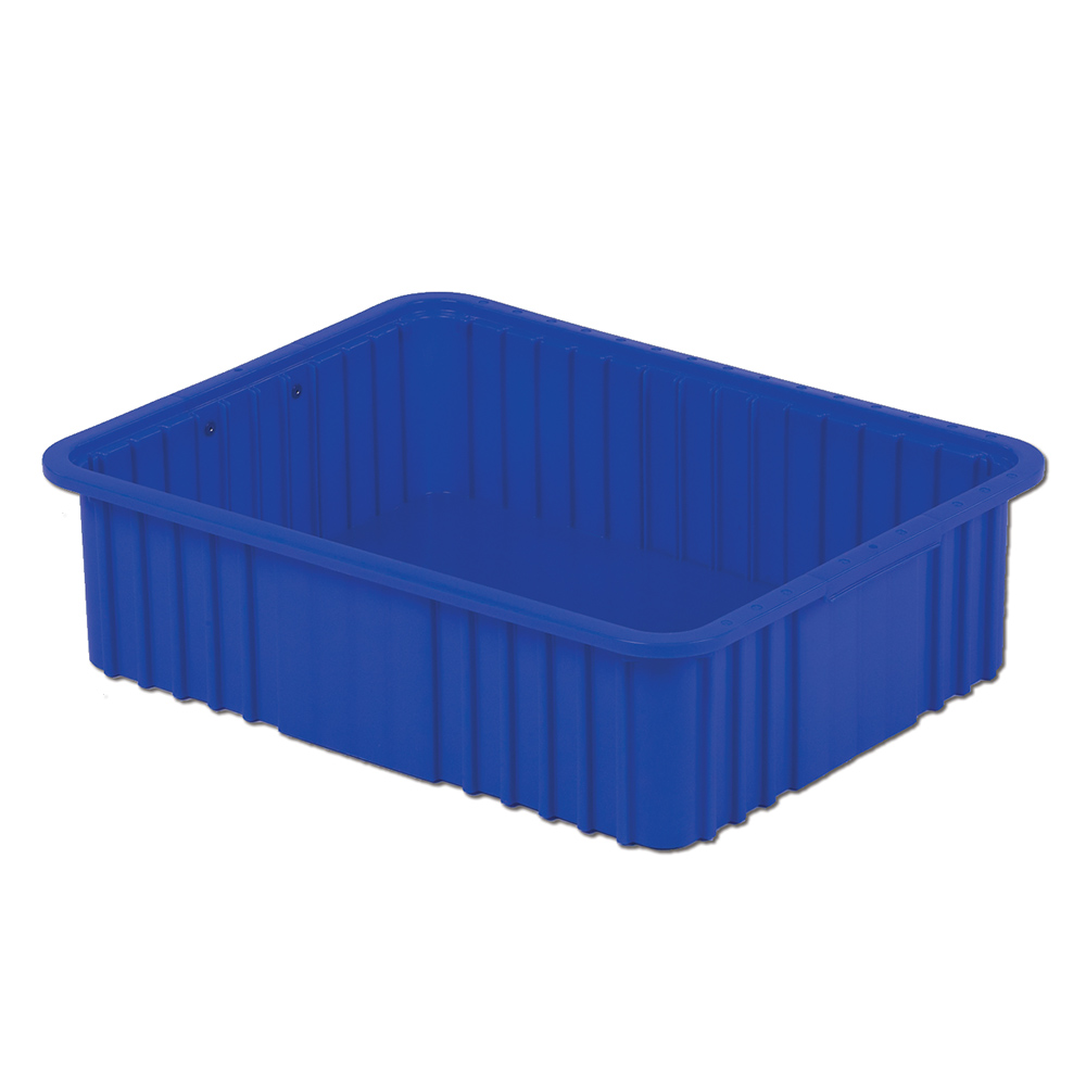 """22-5/16"""" L x 17-5/16"""" W x 6"""" Hgt. Dark Blue Divider Box"""