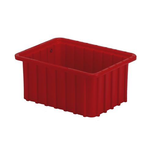 """10-7/8"""" L x 8-1/4"""" W x 5"""" Hgt. Red Divider Box"""