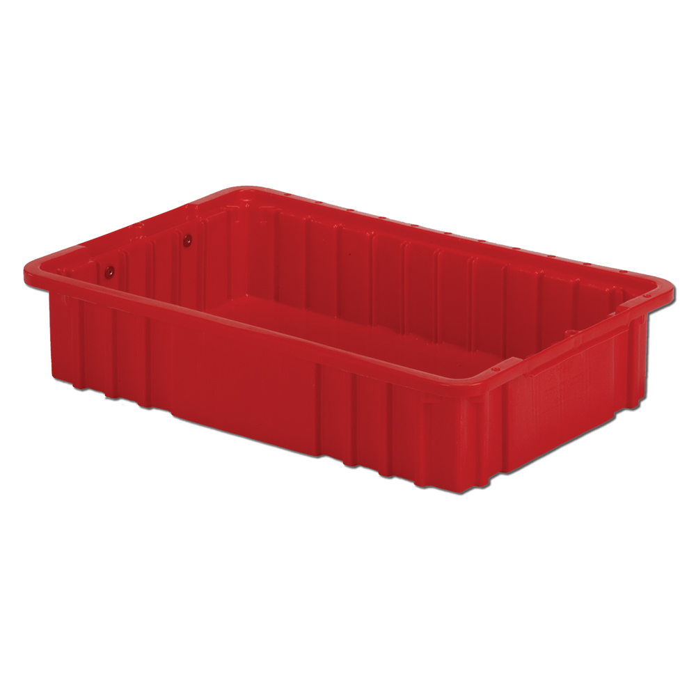 """16-1/2"""" L x 10-7/8"""" W x 3-1/2"""" Hgt. Red Divider Box"""