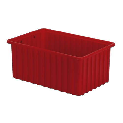 "16-1/2"" L x 10-7/8"" W x 7"" H Red Divider Box"
