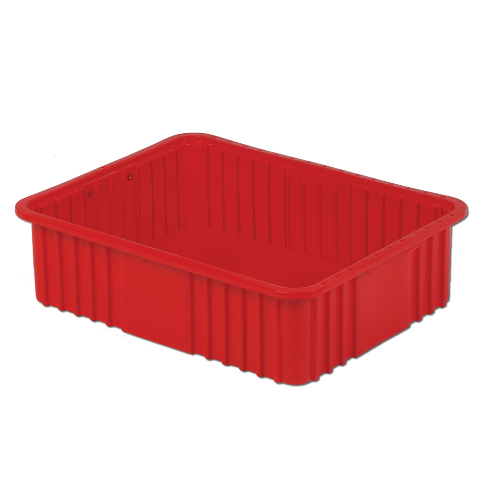 """22-5/16"""" L x 17-5/16"""" W x 6"""" Hgt. Red Divider Box"""