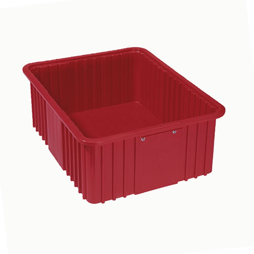 """22-5/16"""" L x 17-5/16"""" W x 8"""" Hgt. Red Divider Box"""