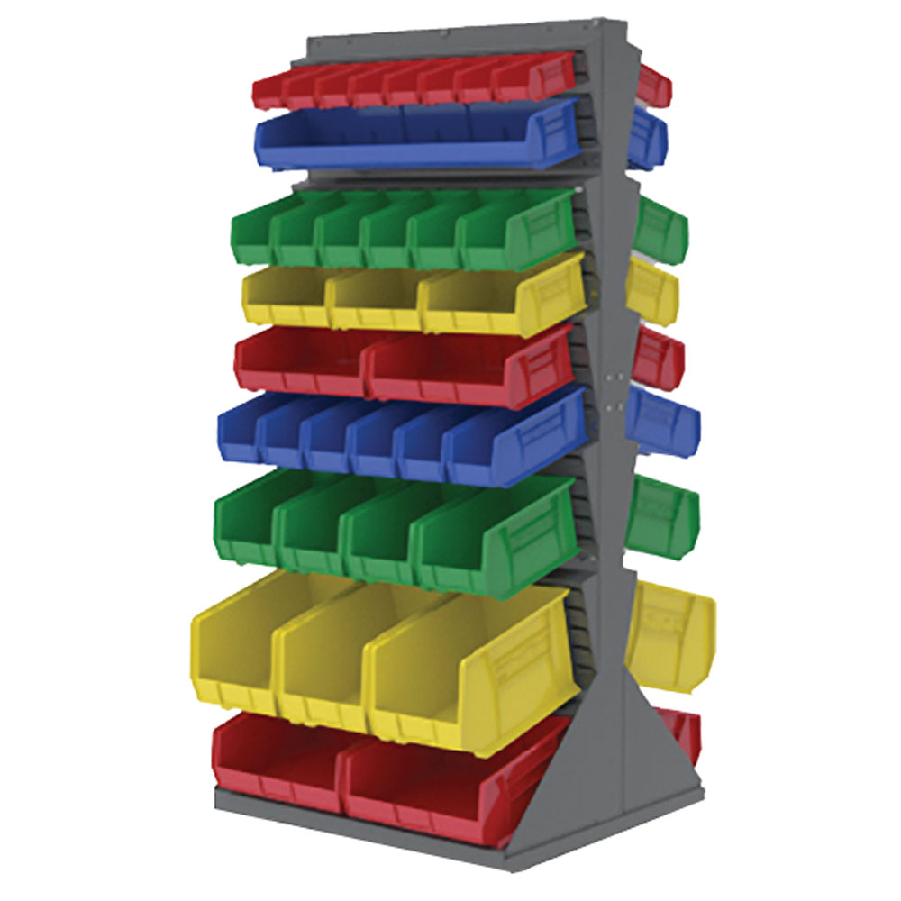 Akro-Mils® Double Sided Bin Rack & Bins