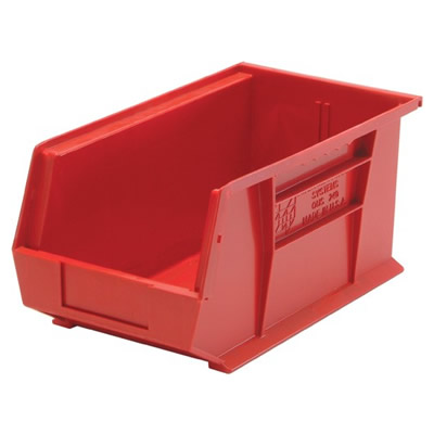 "Red Quantum® Ultra Series Stack & Hang Bin - 14-3/4"" L x 5-1/2"" W x 5"" Hgt."