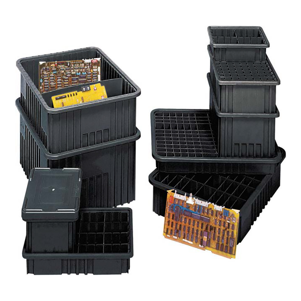 Quantum® Conductive Dividable Grid Containers, Dividers & Covers