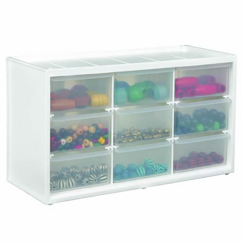 """Store-In-Drawer™ Large 9 Drawer Cabinet - 14.375"""" L x 6"""" W x 8.375"""" H"""