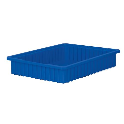 """22-3/8"""" L x 17-3/8"""" W x 4"""" H Blue Akro-Grid Bin"""