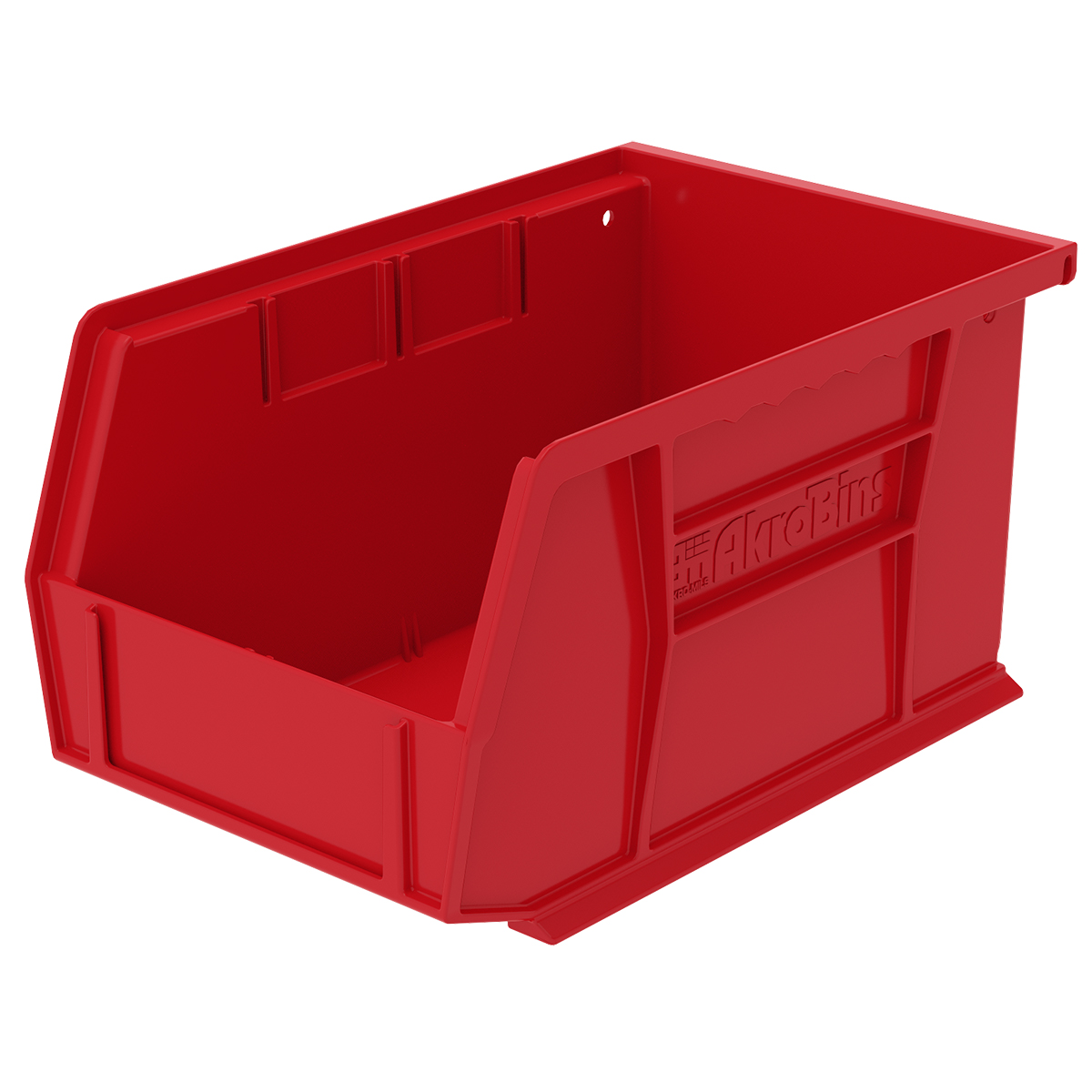 "9-1/4""L x 6""W x 5""H OD Red Storage Bin"