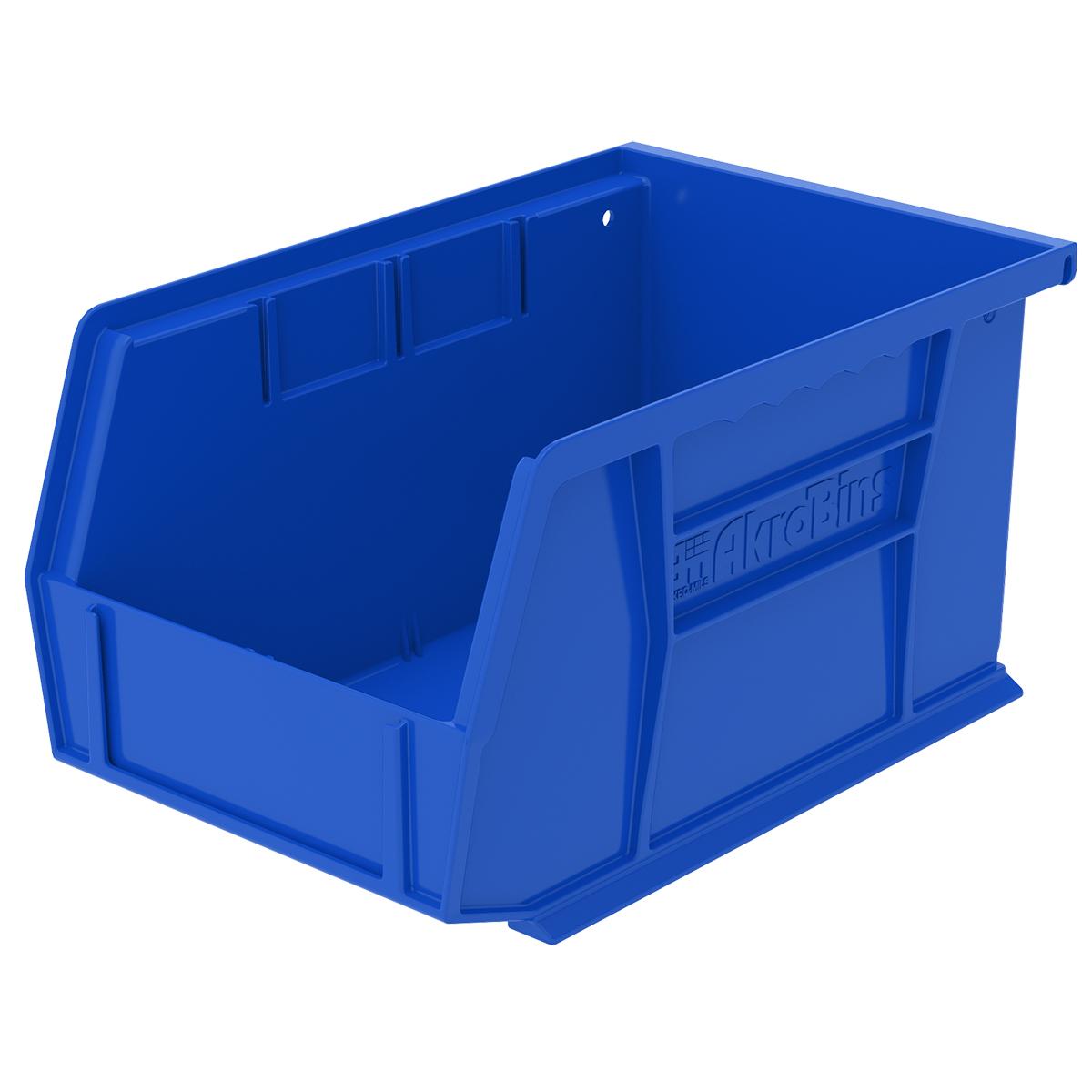 """9-1/4"""" L x 6"""" W x 5"""" Hgt. OD Blue Storage Bin"""