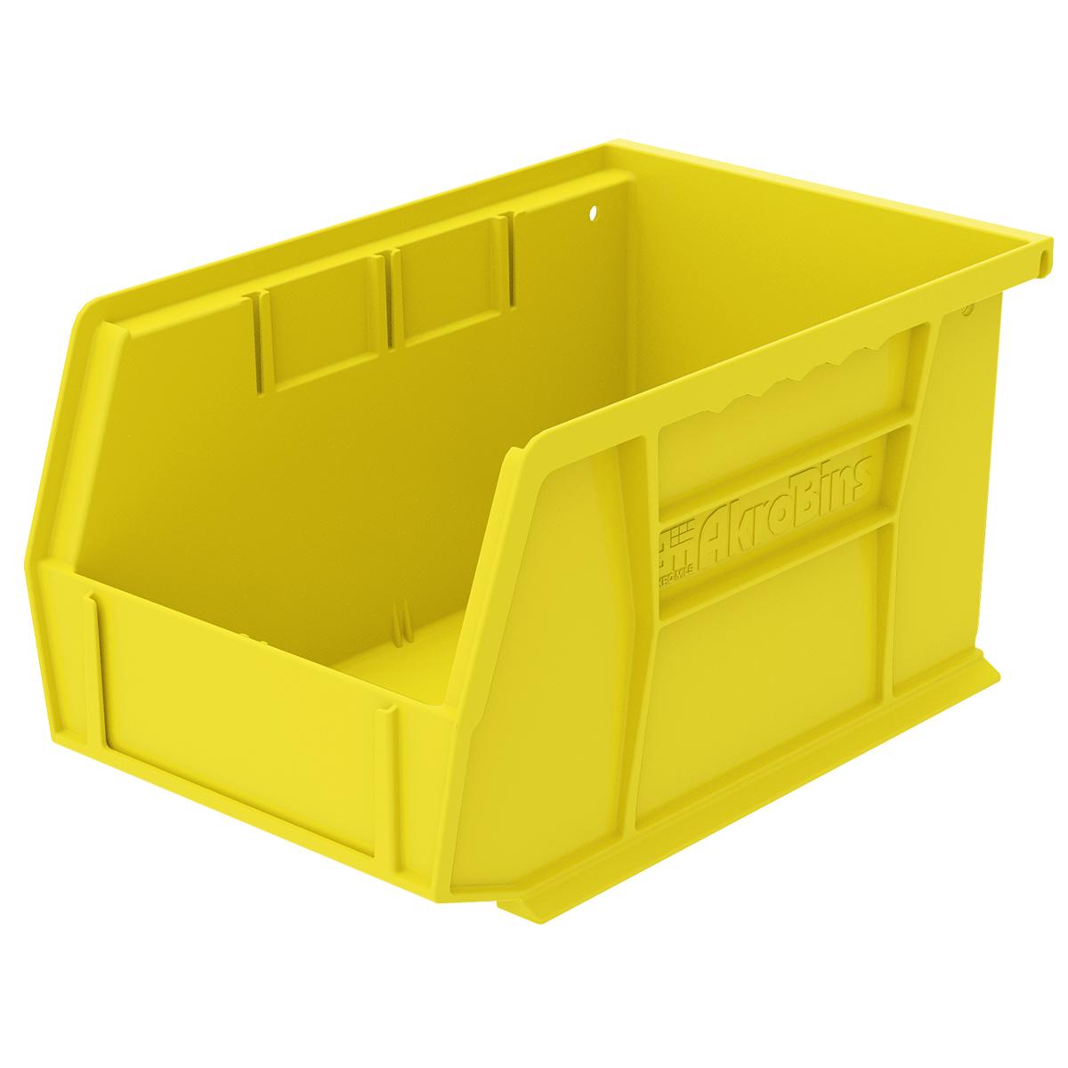 "9-1/4""L x 6""W x 5""H OD Yellow Storage Bin"