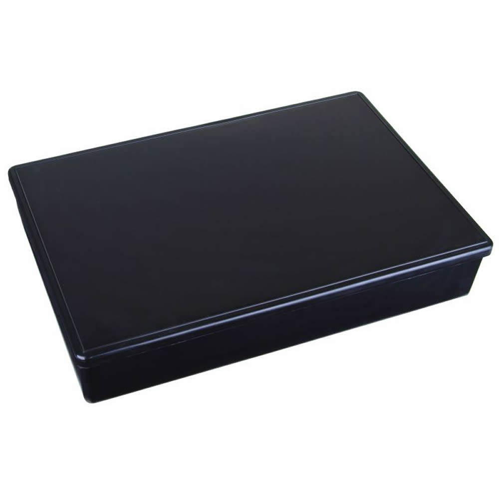"Large Black Conductive Storage Case - 12-3/4"" L x 8-1/2"" W x 2-1/8"" Hgt."