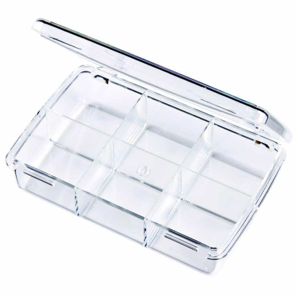 """Diamondback Box with 6 Compartments - 4-1/2"""" L x 2-11/16"""" W x 1"""" H"""