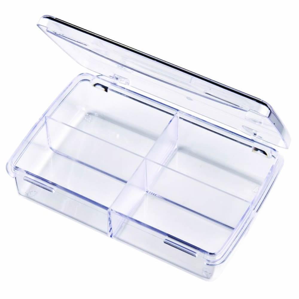 """Diamondback Box with 4 Compartments - 4-1/2"""" L x 2-11/16"""" W x 1"""" H"""