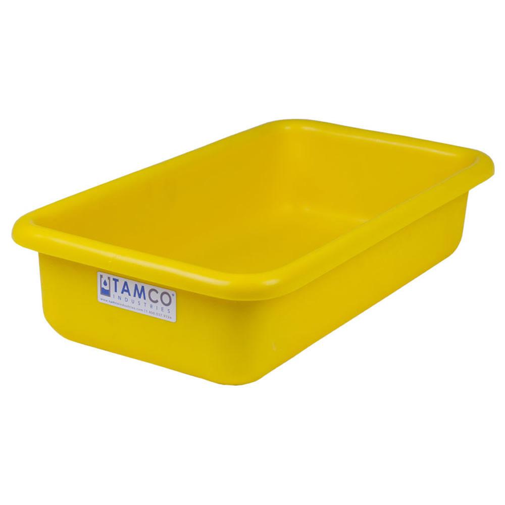 """18"""" L x 10"""" W x 4"""" H Yellow Polyethylene Tamco® Tote Pan"""