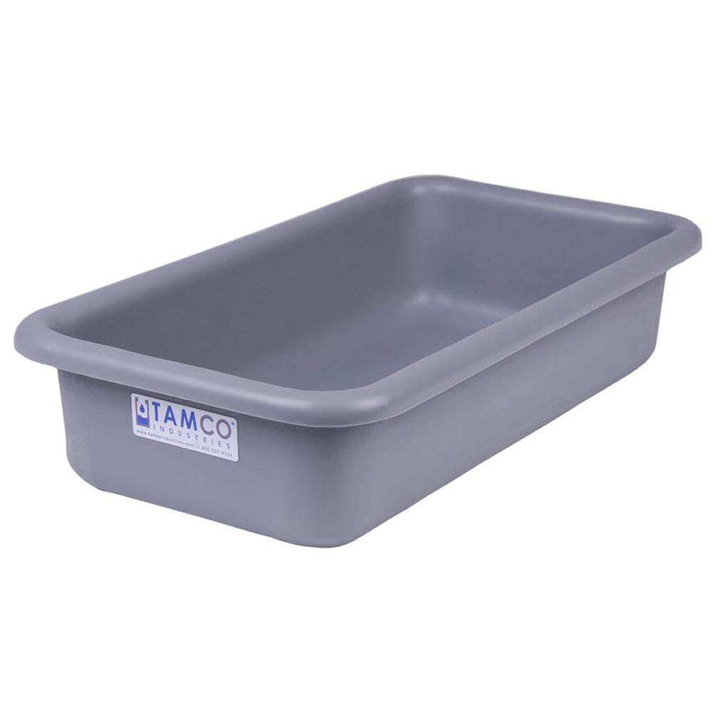 """18"""" L x 10"""" W x 4"""" Hgt. Light Gray Polyethylene Tamco® Tote Pan"""