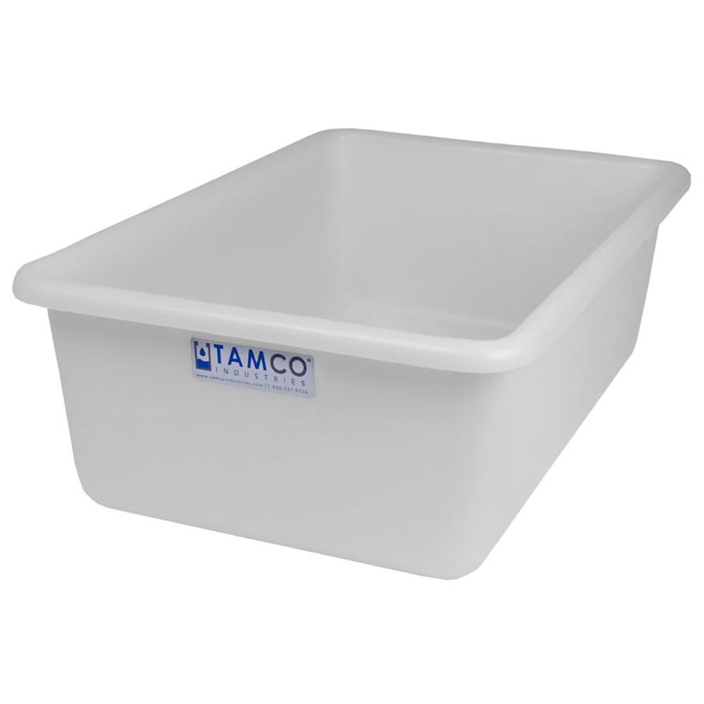 """24"""" L x 16"""" W x 8"""" Hgt. White Polyethylene Tamco® Tote Pan"""