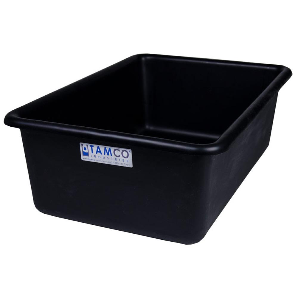 """24"""" L x 16"""" W x 8"""" H Black Polyethylene Tamco® Tote Pan"""