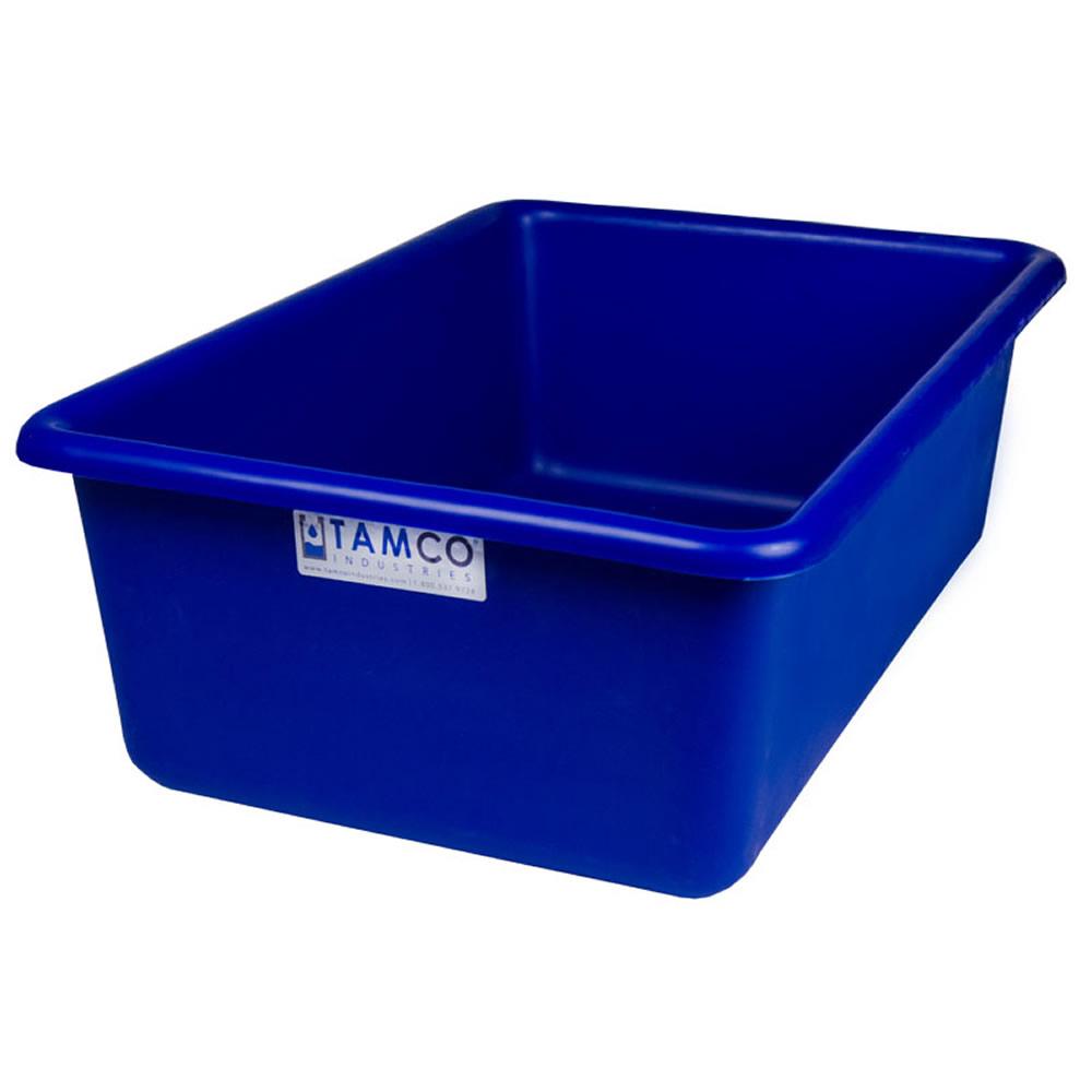 """24"""" L x 16"""" W x 8"""" H Blue Polyethylene Tamco® Tote Pan"""