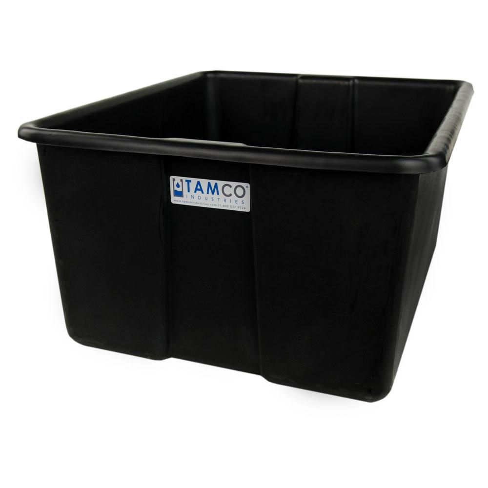 "30"" L x 20"" W x 15"" H Black Polyethylene Tamco® Jumbo Tote Pan"