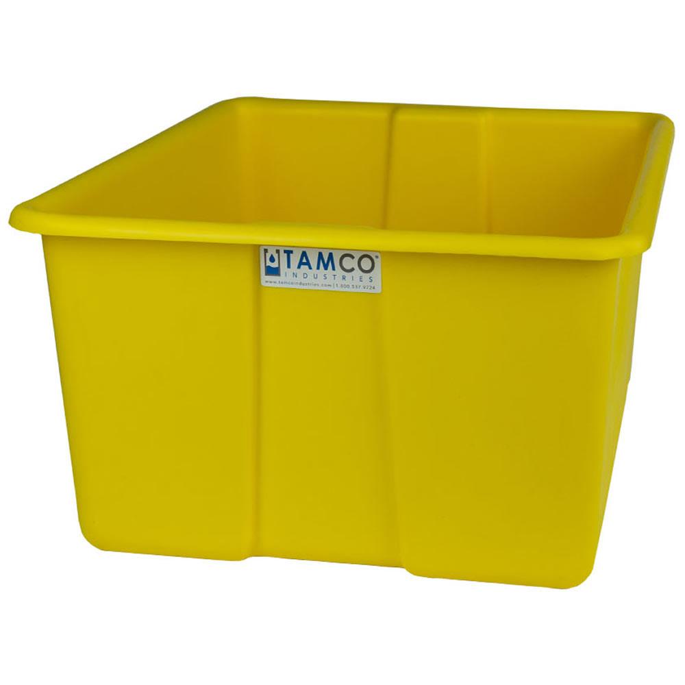 "30"" L x 20"" W x 15"" H Yellow Polyethylene Tamco® Jumbo Tote Pan"