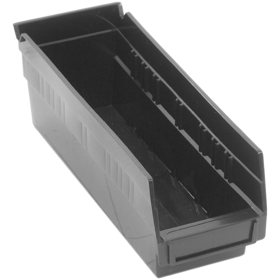 "Black Quantum® Economy Shelf Bin - 11-5/8"" L x 4-1/8"" W x 4"" Hgt."
