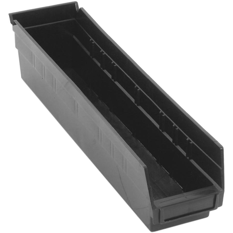 "Black Quantum® Economy Shelf Bin - 17-7/8"" L x 4-1/8"" W x 4"" Hgt."