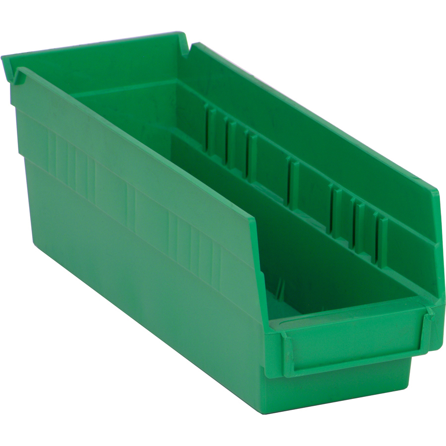 "11-5/8"" L x 4-1/8"" W x 4"" Hgt. Green Quantum® Economy Shelf Bin"
