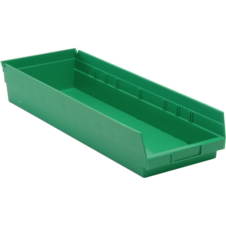 "Green Quantum® Economy Shelf Bin - 23-5/8"" L x 8-3/8"" W x 4"" Hgt."