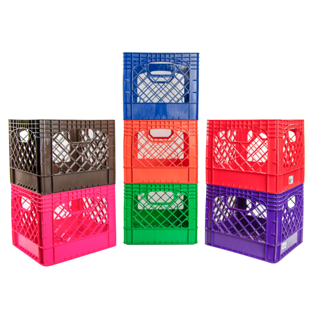 Colored Vented Dairy Crates