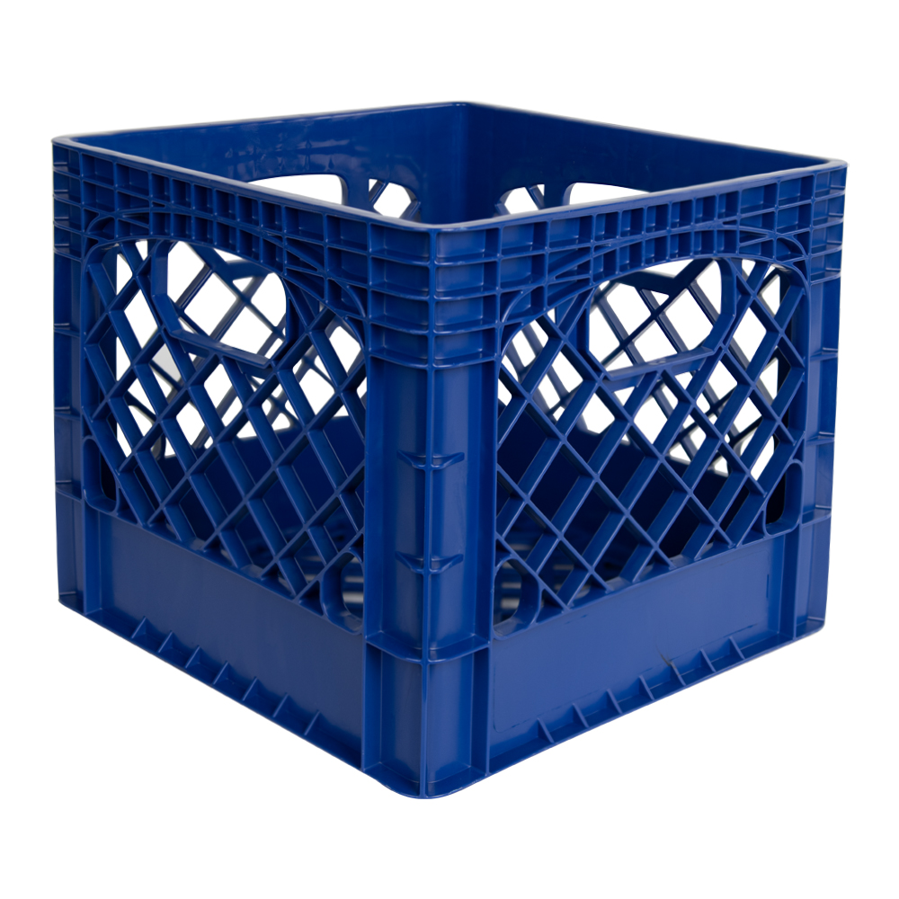 Blue Vented Dairy Crate