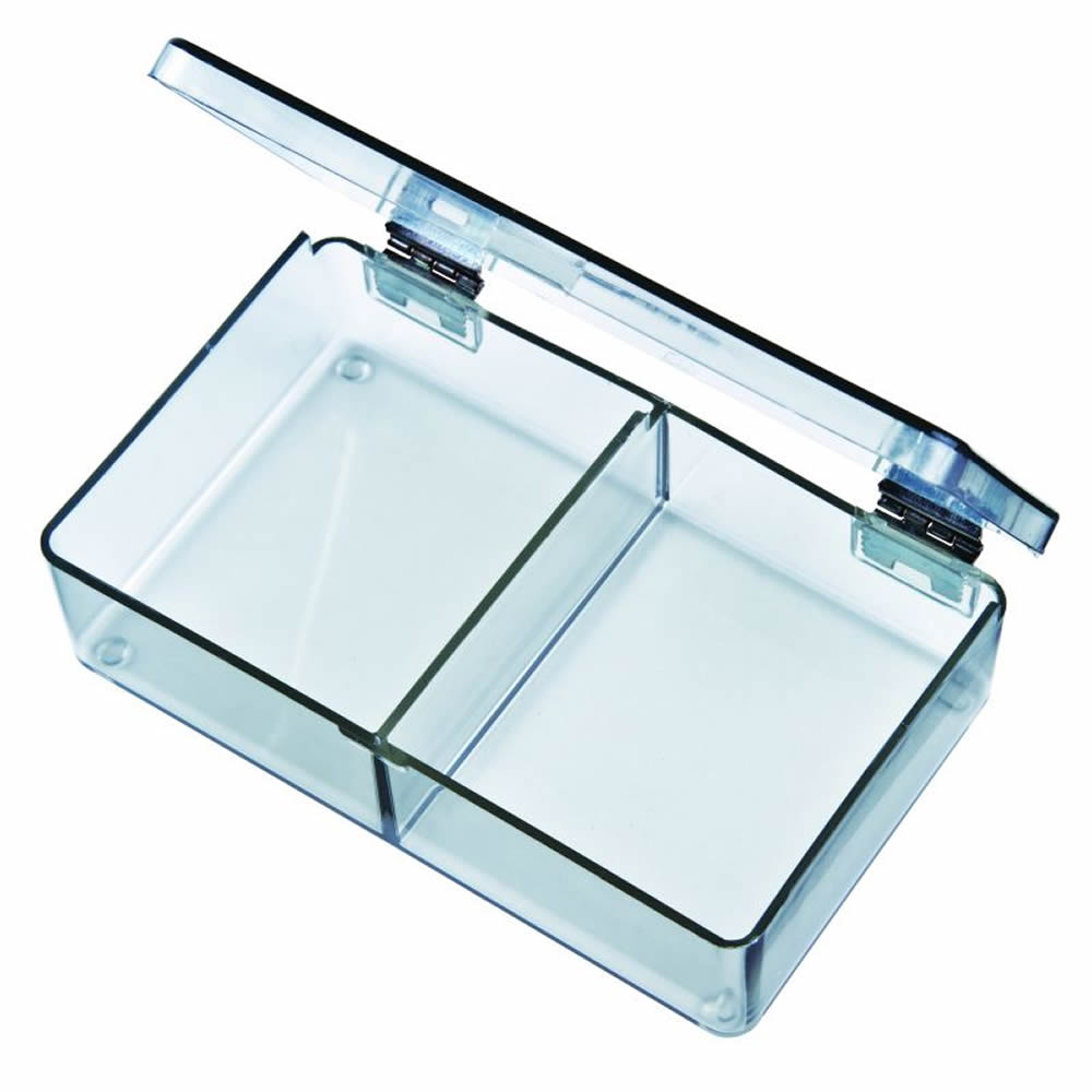 """Mighty-Tuff™ Box with 2 Compartments - 4-5/16"""" L x 2-5/8"""" W x 1-1/16"""" Hgt."""