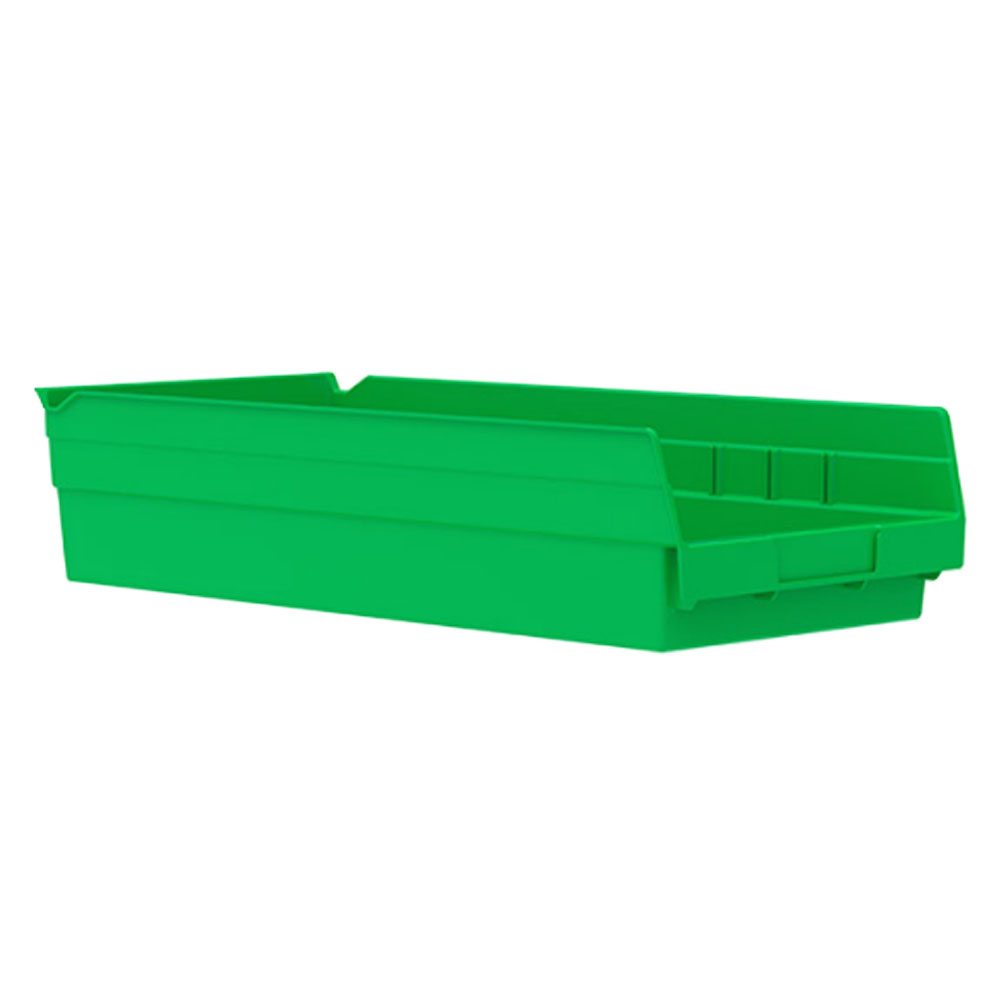 "Green Akro-Mils® Shelf Bin - 17-7/8"" L x 8-3/8"" W x 4"" Hgt."
