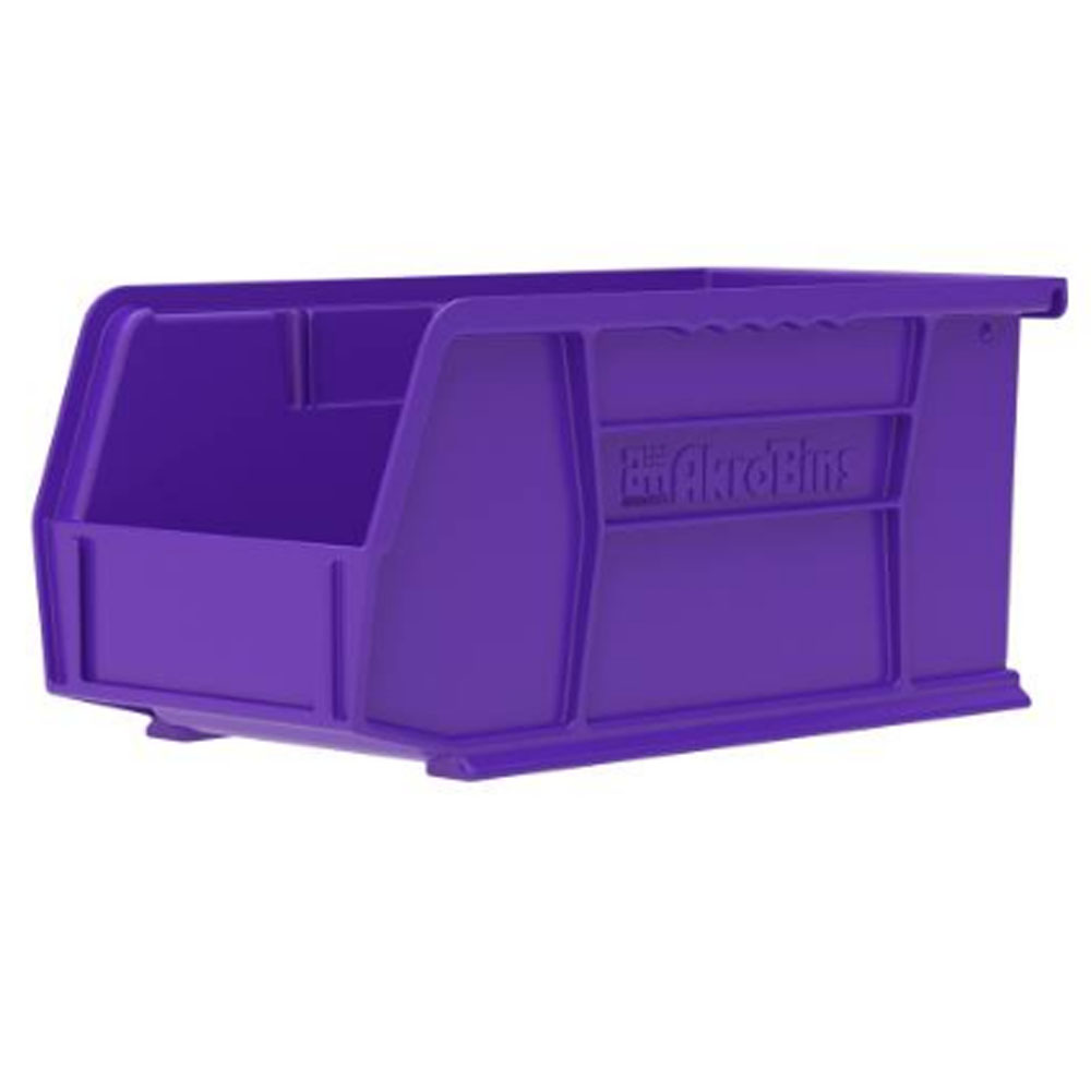 "10-7/8"" L x 5-1/2"" W x 5"" Hgt. OD Purple Storage Bin"