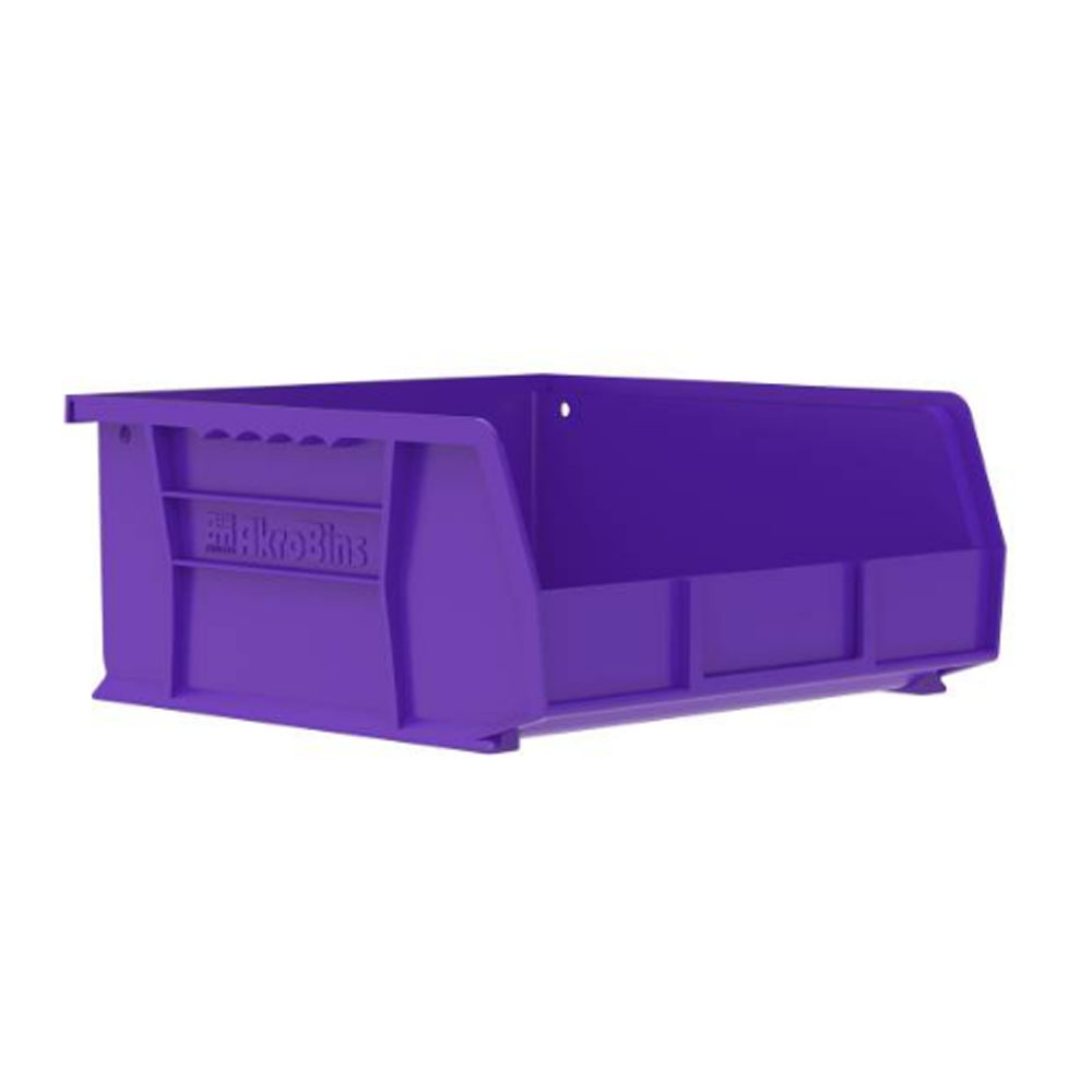 "10-7/8"" L x 11"" W x 5"" Hgt. OD Purple Storage Bin"