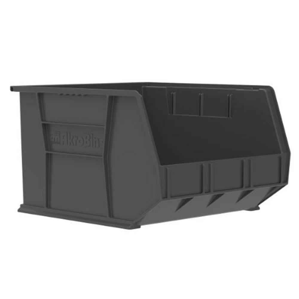 "18"" L x 16-1/2"" W x 11"" Hgt. OD Black Storage Bin"