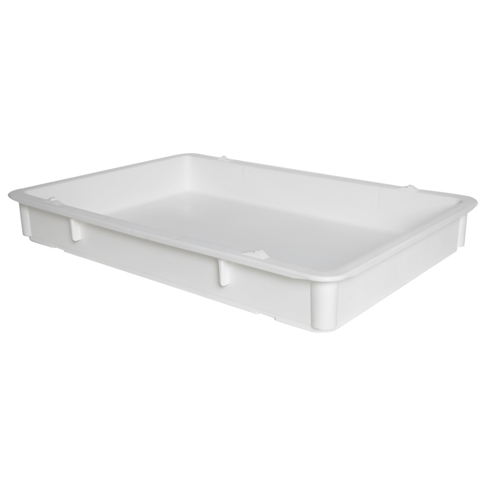 """25-3/4"""" L x 18"""" W x 3-11/16"""" Hgt. White Tray with Handles (Lid & Template Sold Separately)"""