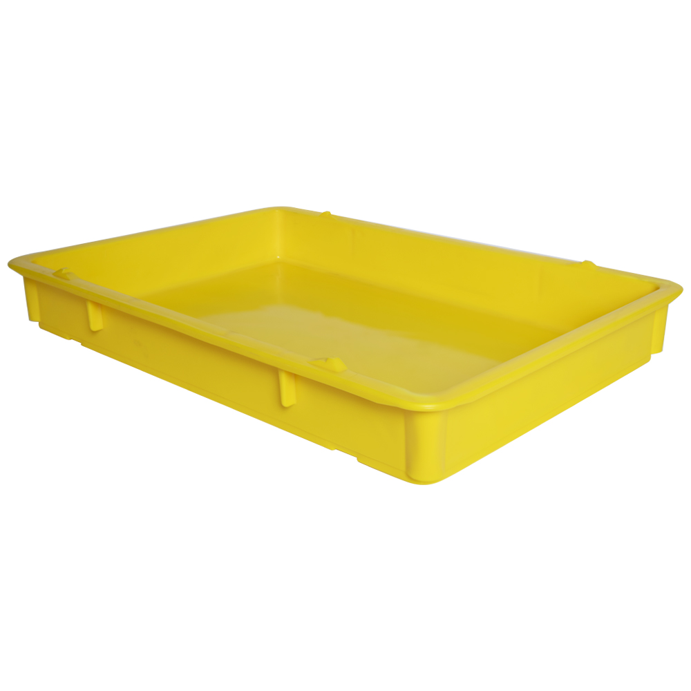 "25-3/4"" L x 18"" W x 3-11/16"" Hgt. Yellow Tray with Handles (Lid & Template Sold Separately)"