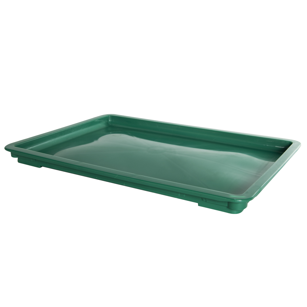 "24"" L x 16"" W x 1-1/2"" Hgt. Green Dough Tray Lid"