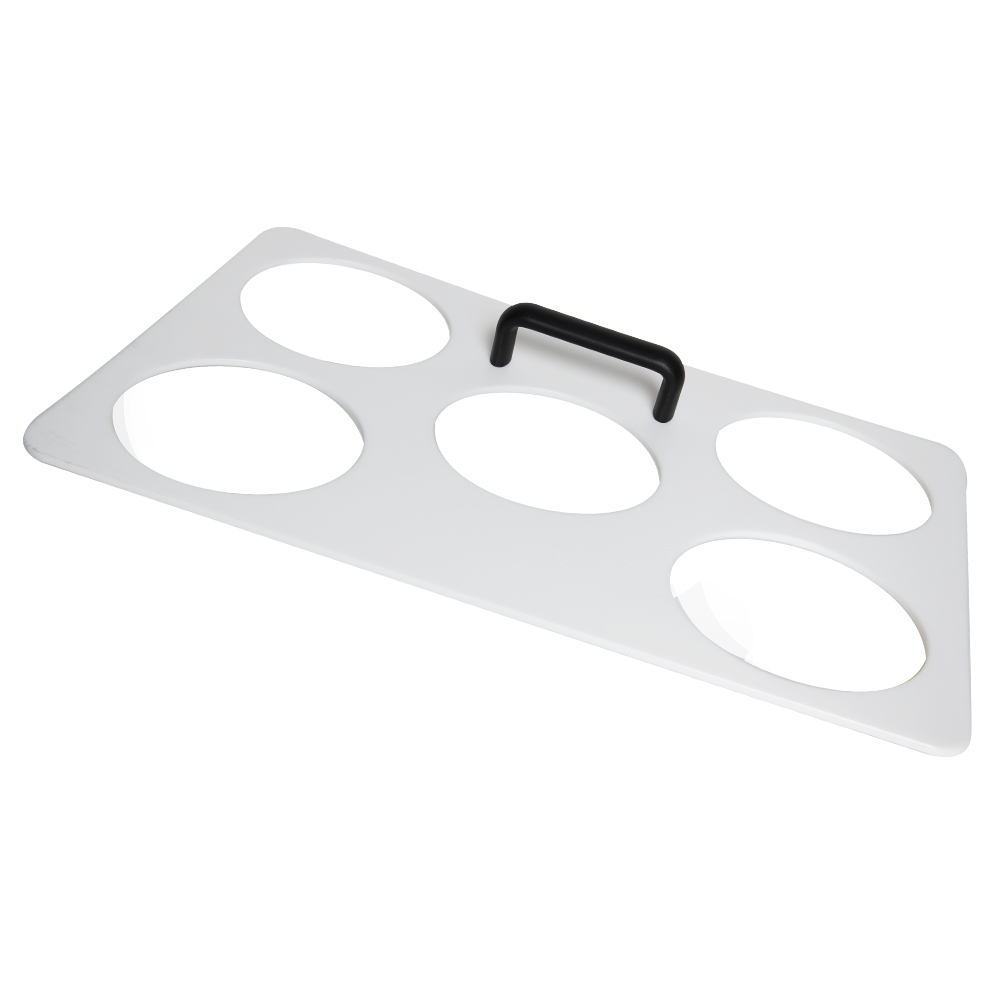 8 Holes White Dough Tray Template