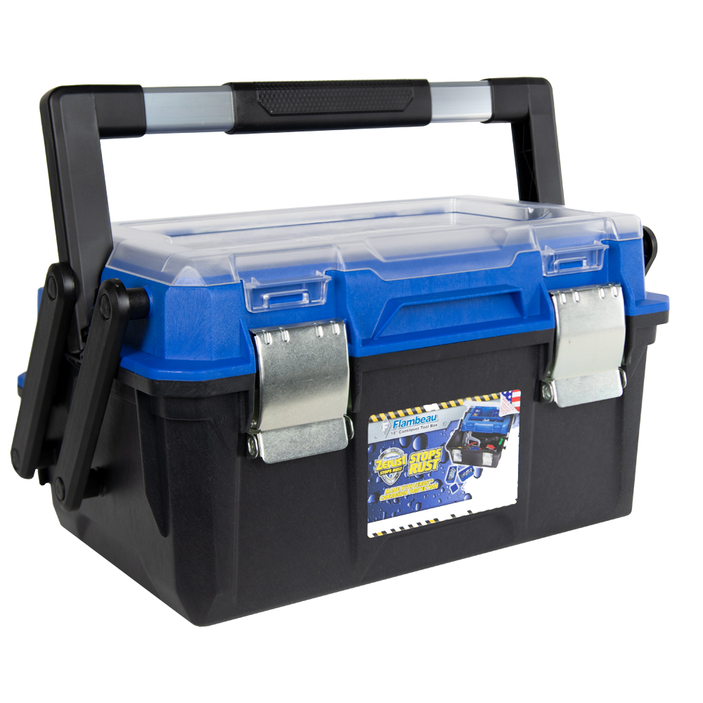 """18"""" Zerust® Cantilever Tool Box with Steel Latch & Tray"""