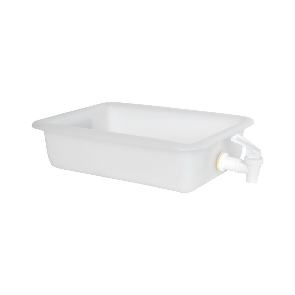 "12-1/8"" x 8-1/4"" x 3"" Tamco® Tray with No-Drip® Spigot"