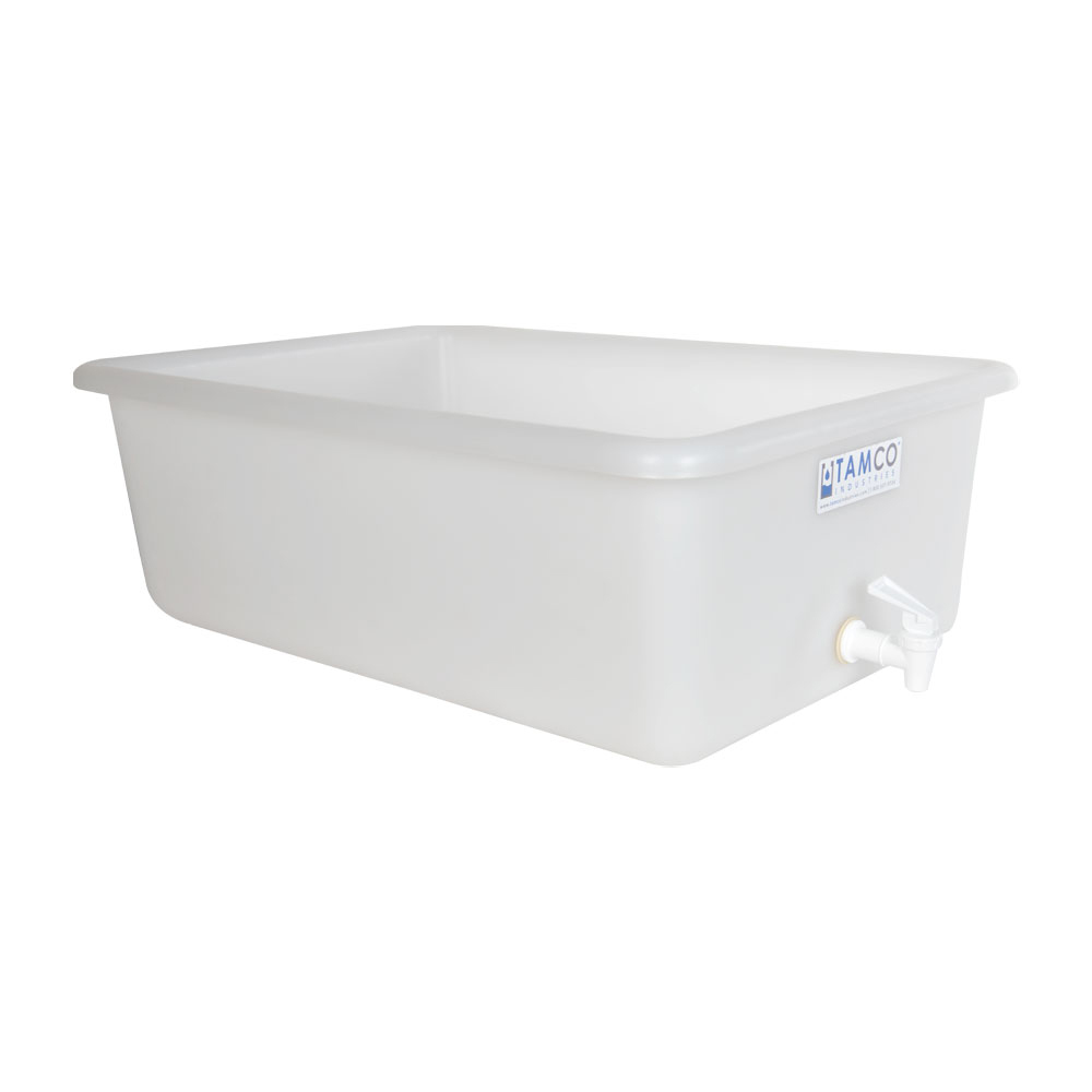 "24"" x 16"" x 8"" Tamco® Tray with No-Drip® Spigot"