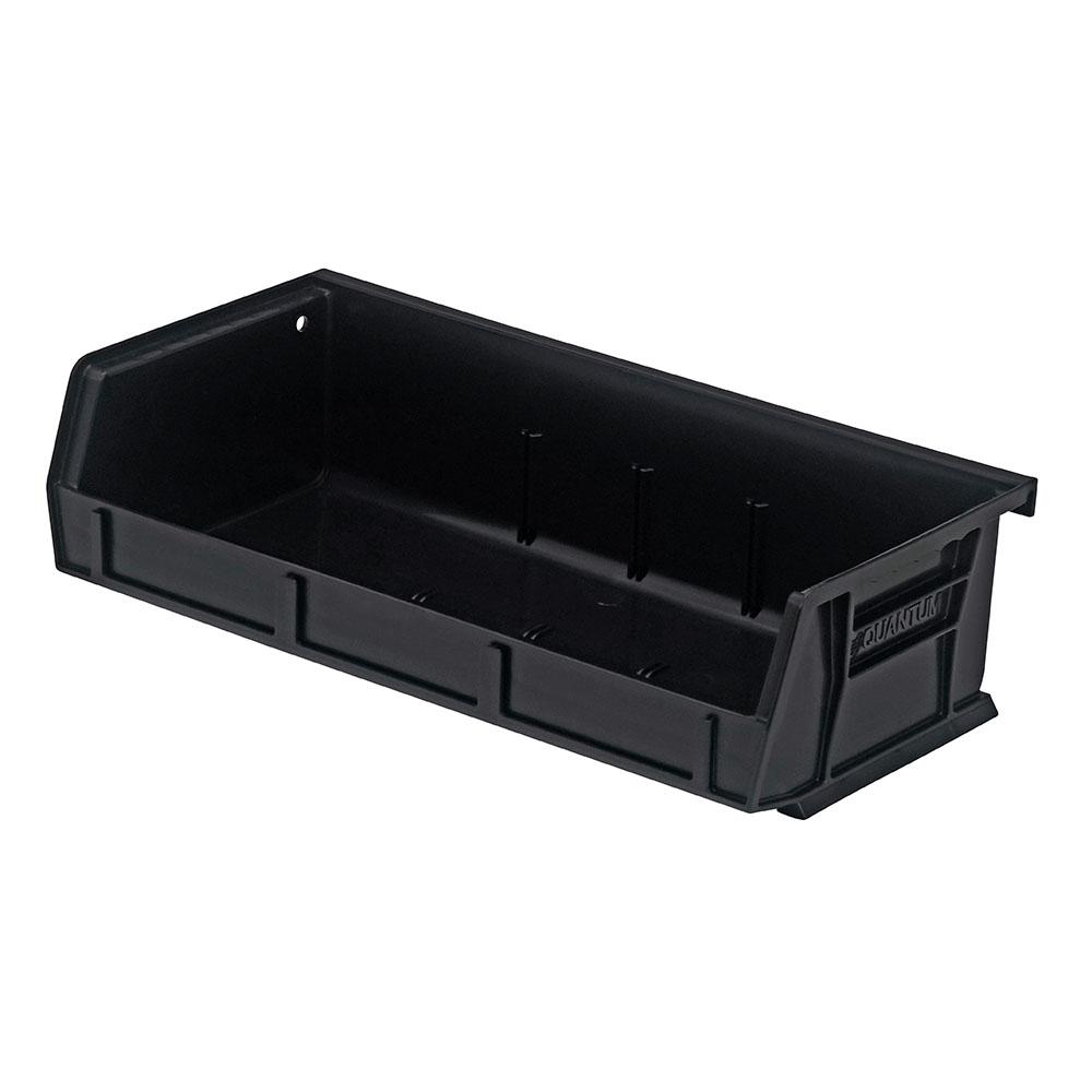 "Black Quantum® Ultra Series Stack & Hang Bin - 5-3/8"" L x 11"" W x 3"" Hgt."
