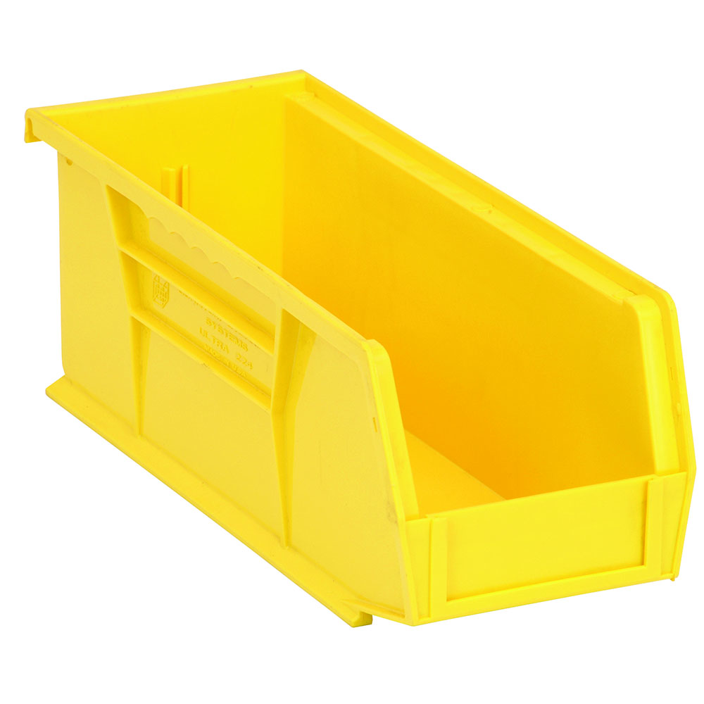 "Yellow Quantum® Ultra Series Stack & Hang Bin - 10-7/8"" L x 4-1/8"" W x 4"" Hgt."