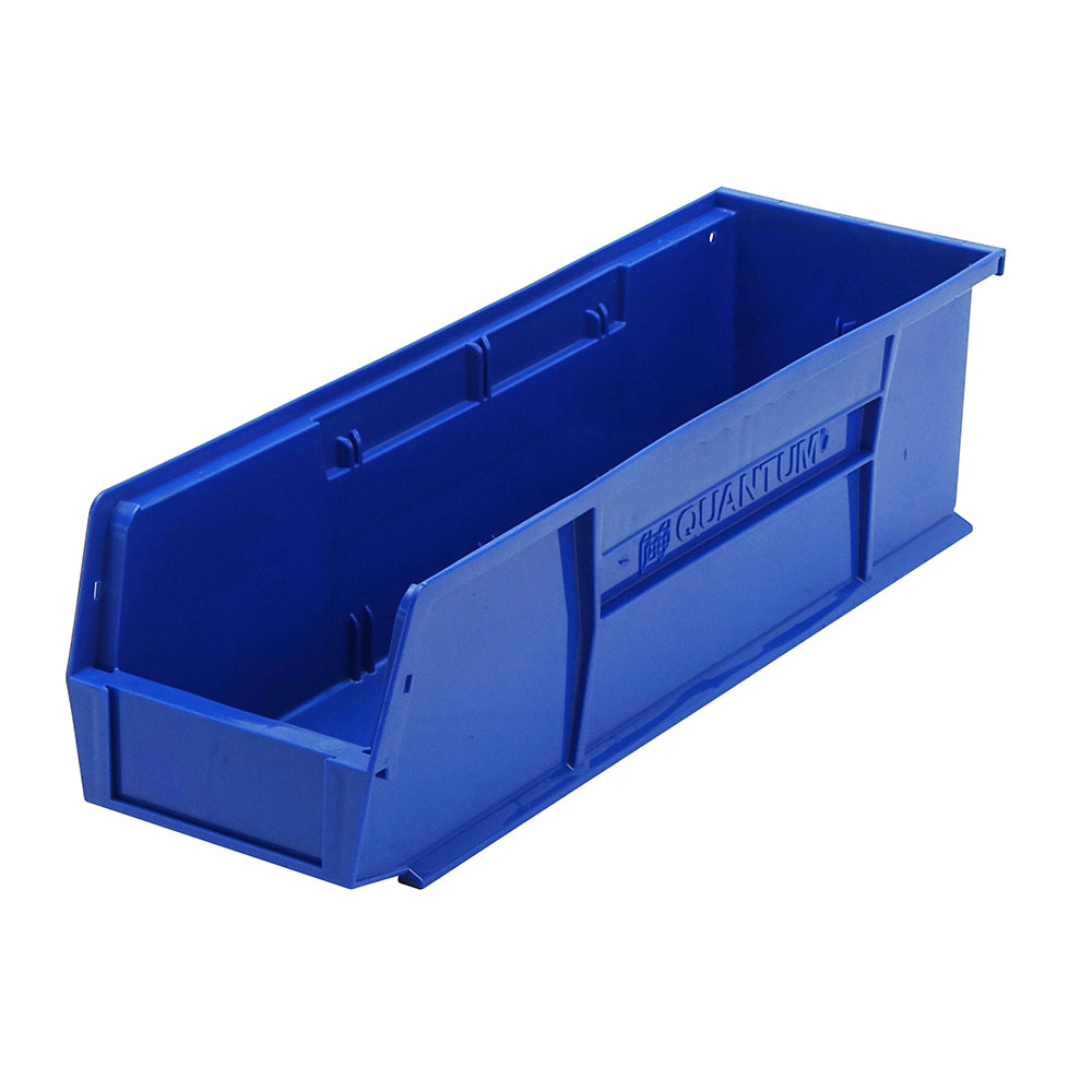 "Blue Quantum® Ultra Series Stack & Hang Bin - 18"" L x 5-1/2"" W x 5"" Hgt."