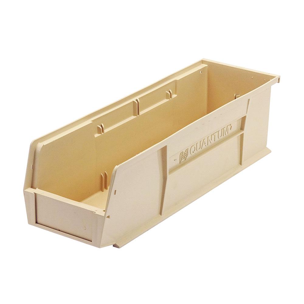 "Ivory Quantum® Ultra Series Stack & Hang Bin - 18"" L x 5-1/2"" W x 5"" Hgt."