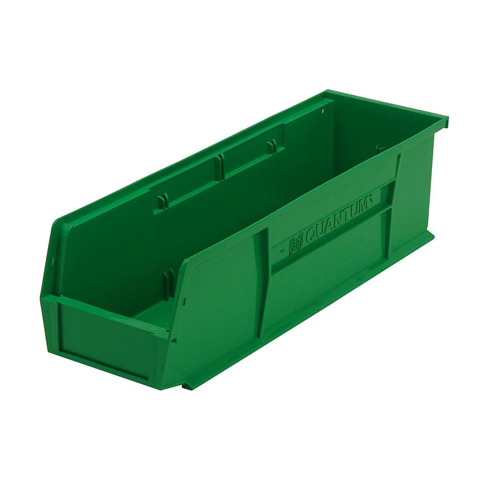 "18"" L x 5-1/2"" W x 5"" H Green Quantum® Ultra Series Stack & Hang Bin"