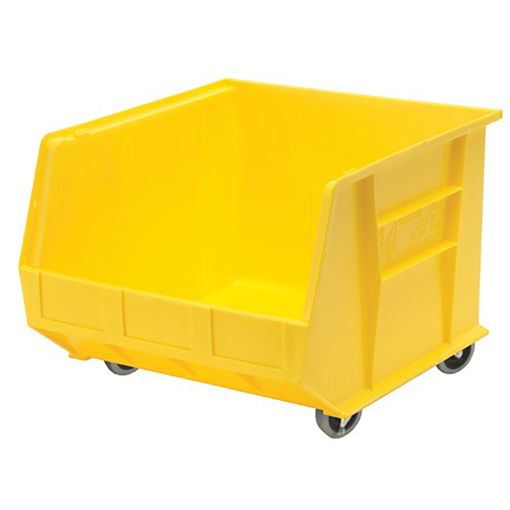 "Yellow Quantum® Ultra Series Mobile Stack & Hang Bin - 18"" L x 16-1/2"" W x 11"" Hgt."
